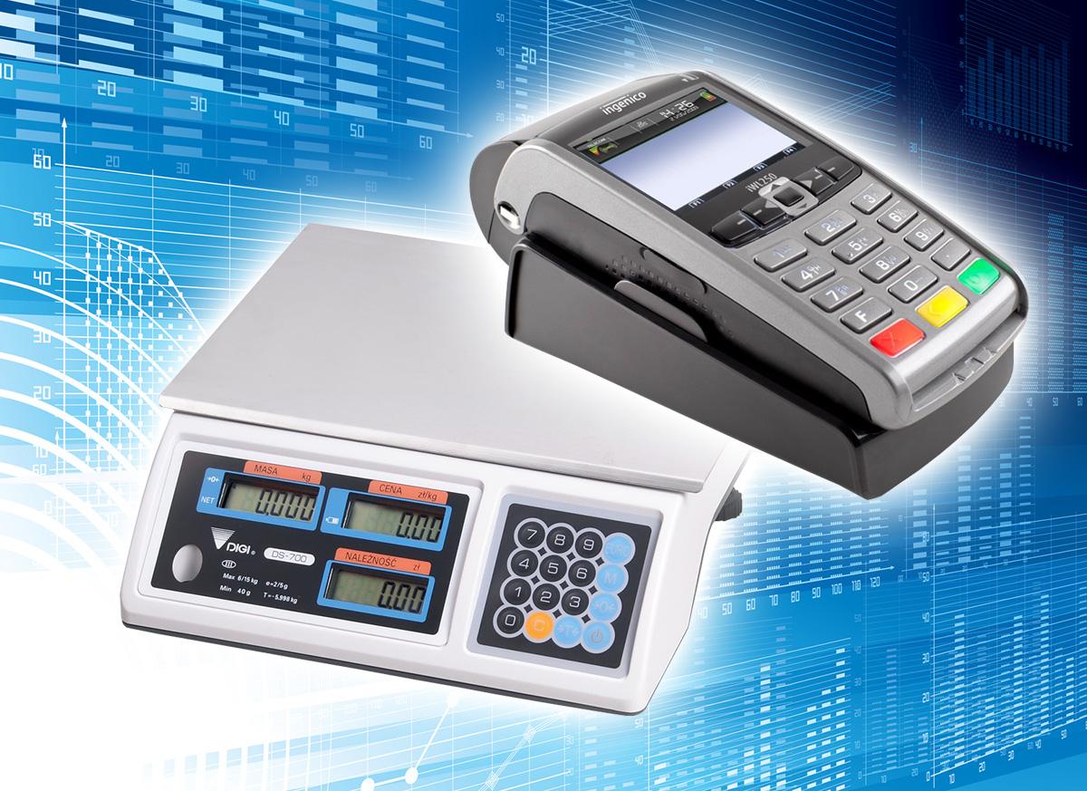Urządzenia peryferyjne - waga elektroniczna i terminal płatniczy